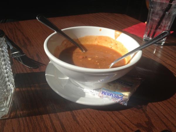 Roasted Tomato Gorgonzola Soup
