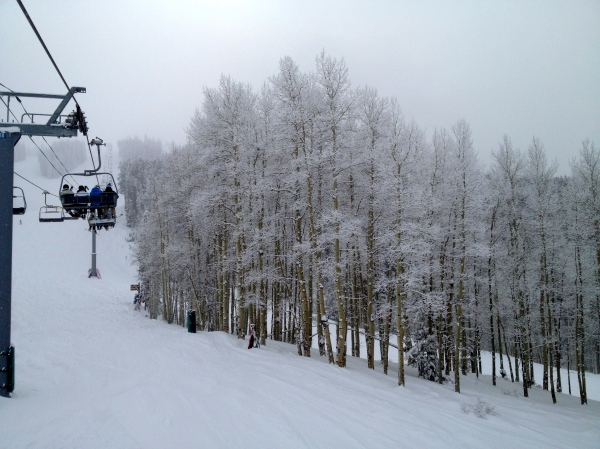 Snowy Ski Day