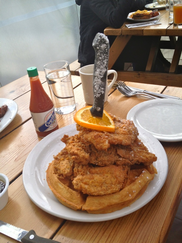 Epic chicken and waffles at The Screen Door.