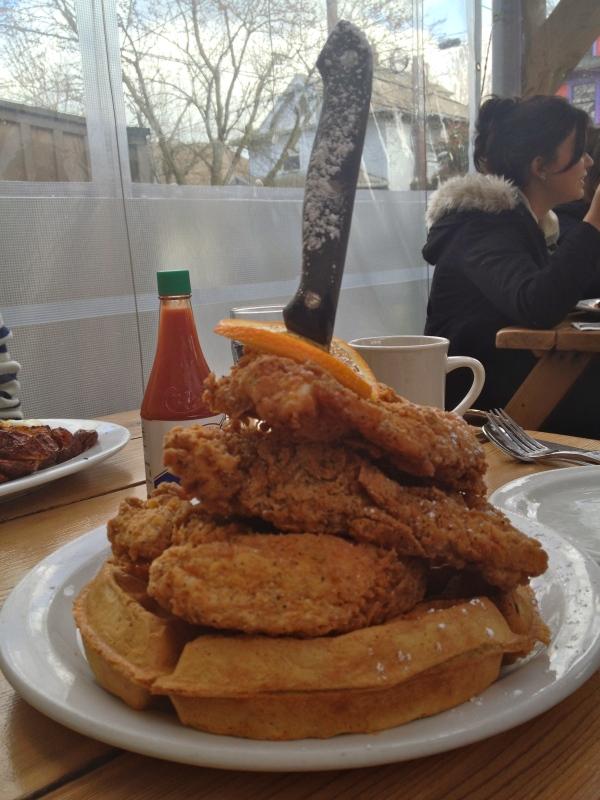 Screen Door Chicken and Waffles