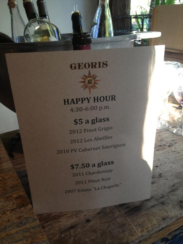 Georis Happy Hour