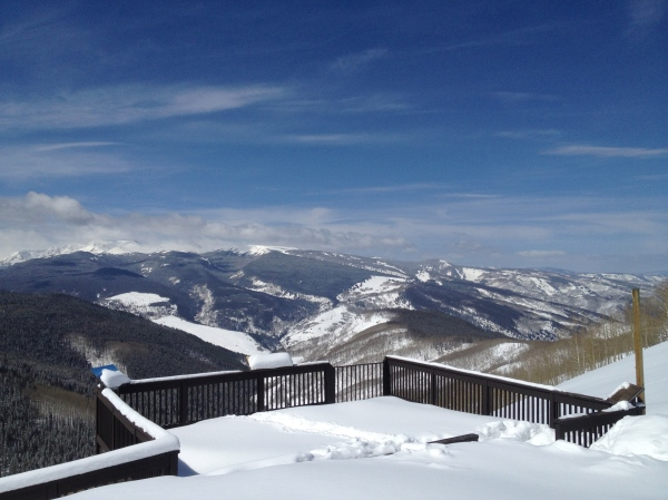 On top of it all, it was a warm, sunny day in Vail.
