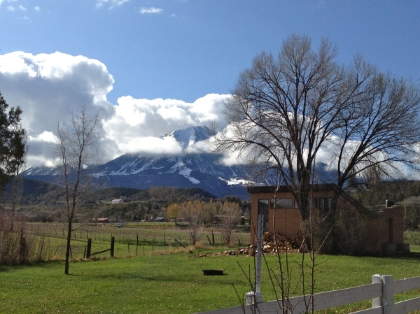 The view of Mt. Lamborn from the driveway of Fresh and Wyld was constantly changing and beautiful during our stay.