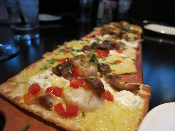 Kaluz Shrimp and Goat Cheese Flatbread