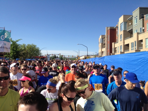 For a race with 50,000 people, the Bolder Boulder was remarkably well-organized.  The start felt less chaotic than many smaller races that I've run.