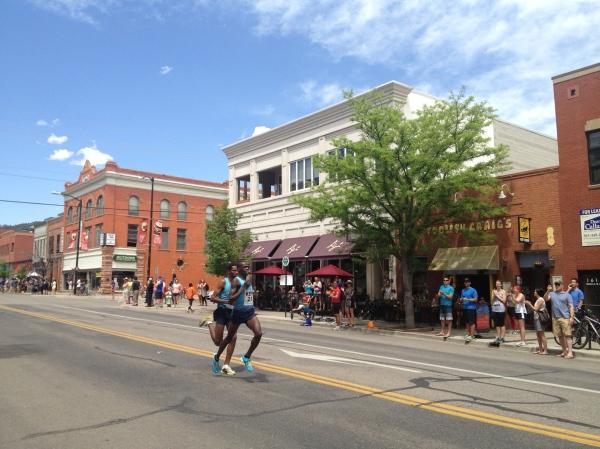 Pros running Bolder Boulder
