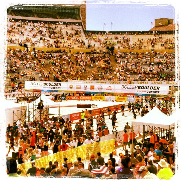 Bolder Boulder Finish