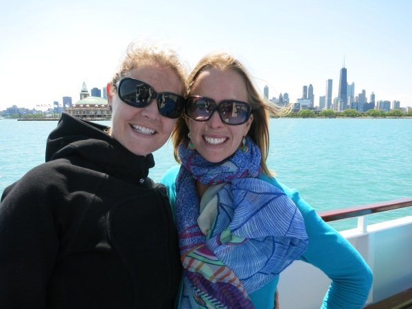 My pashmina helped keep me warm and stylish on Lake Michigan.