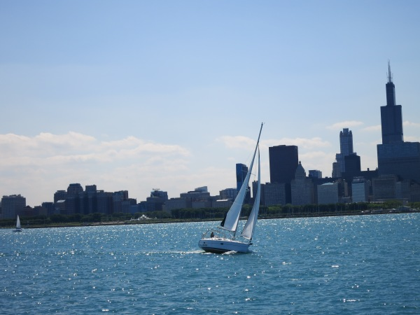Sailboat and Chicago Skyline