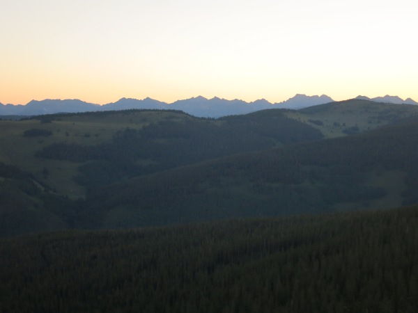 Sunrise over the Gore Range