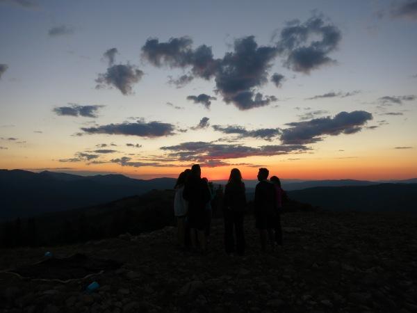 Sunset above Fowler/Hilliard