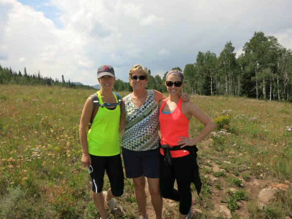 Mom and  Daughters on Big Park Trail