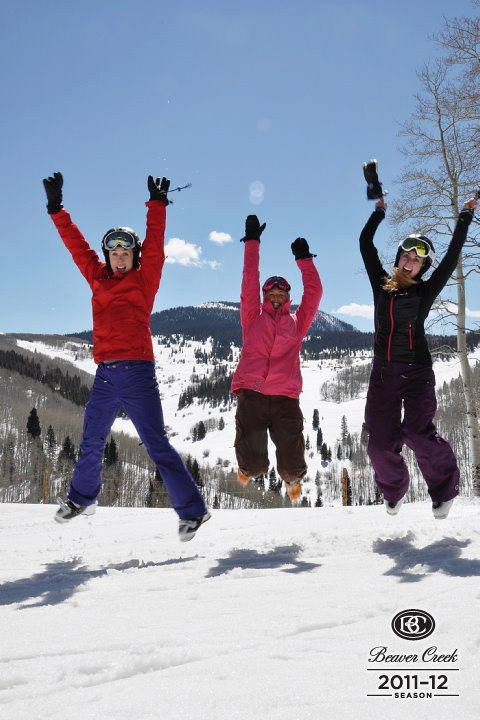 Jumping for joy because we got cheap lift tickets! Not really, but this is what you'll feel like when you score a deal.
