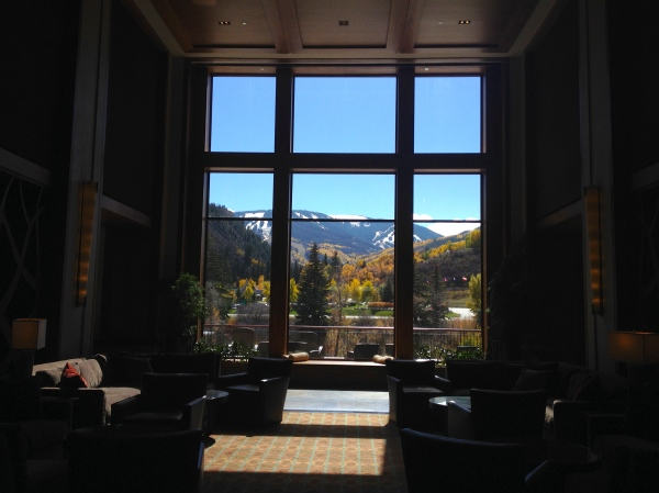 Can we talk about the view that smacks you in the face the second you enter the Westin?  That's Beaver Creek mountain in the distance.  Gorgeous.