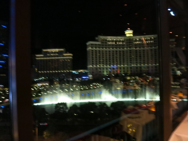 Bellagio Fountains from Eiffel Tower