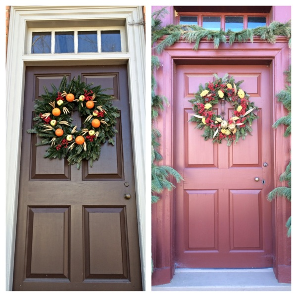 Colonial Williamsburg Christmas Doors