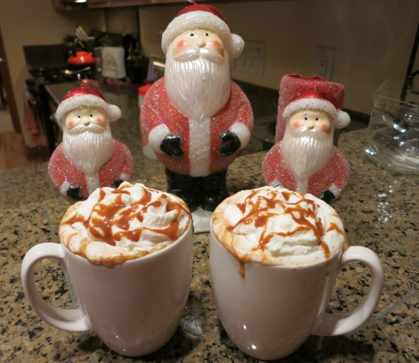 Even Santa likes caramel apple cider!