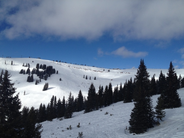 Vail's back bowls opened this weekend for some beautiful skiing.