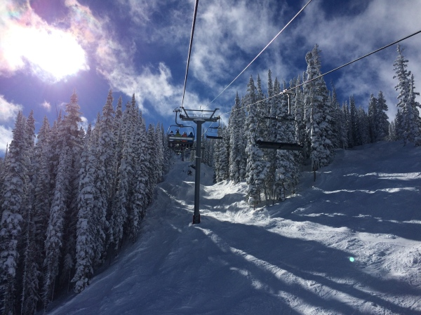 Vail Bluebird Powder Day