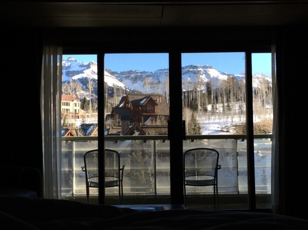 This was the view from my bed at The Peaks.  Pretty phenomenal.