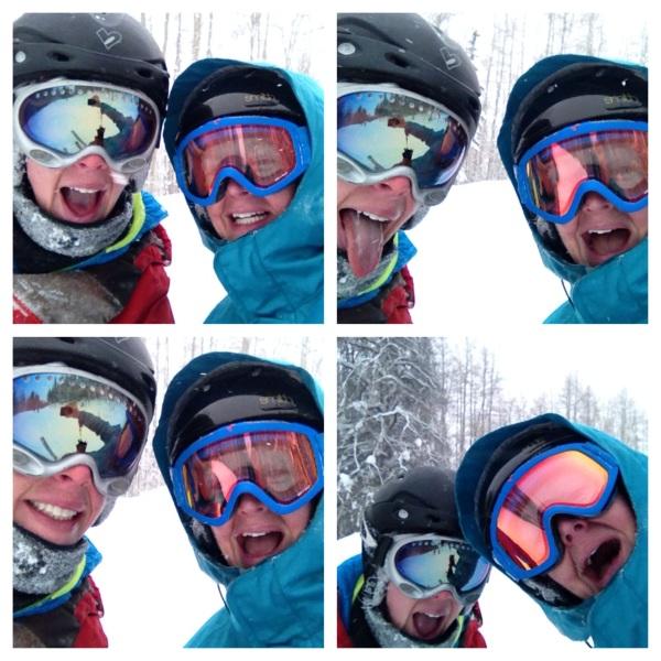 Skiing Selfie Collage