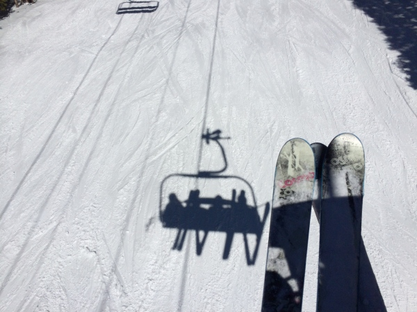Chairlift shadows
