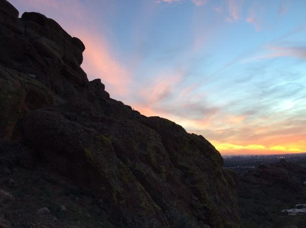 Echo canyon trail sunset