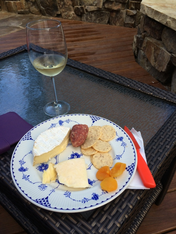 charcuterie on the patio